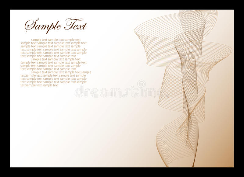Download White And Brown Abstract Background Stock Vector - Image: 14493592