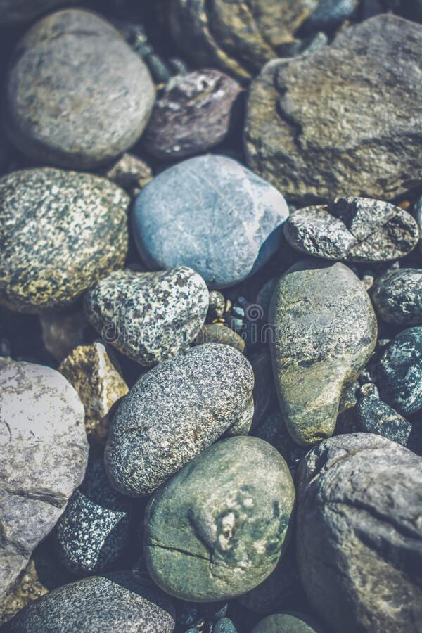White Brown and Black Stone stock image