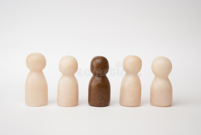 White and brown figures royalty free stock photo