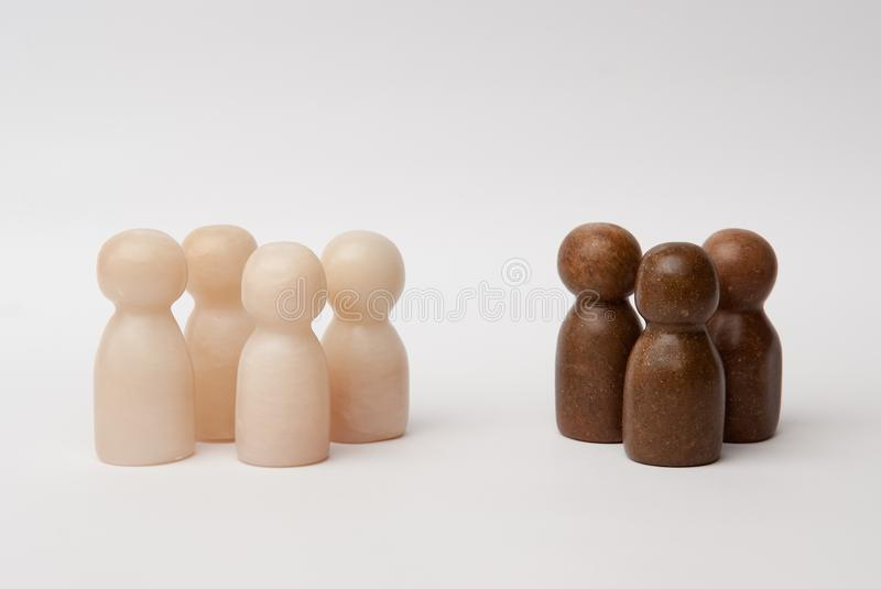 White and brown figures royalty free stock images