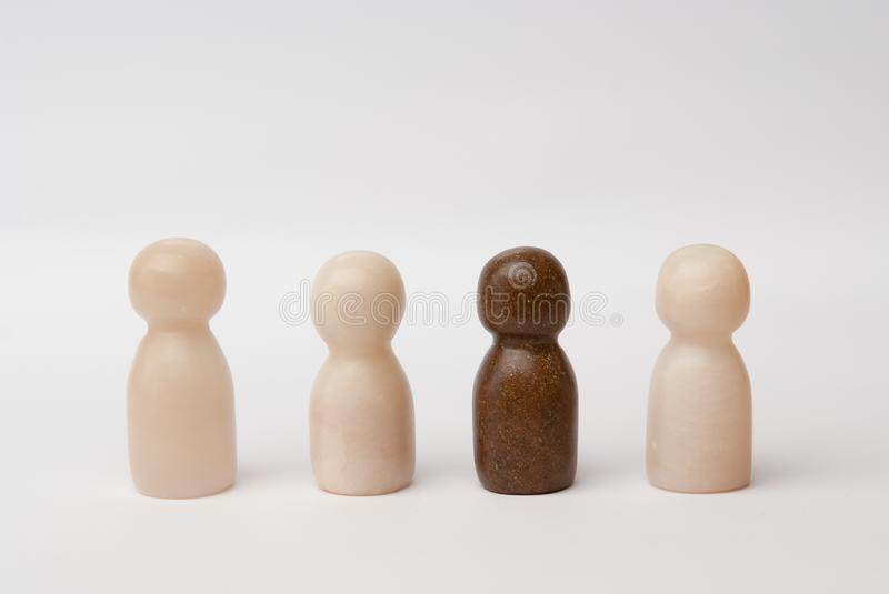 White and brown figures stock photography