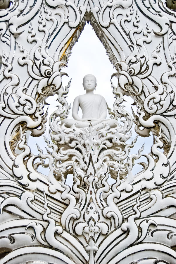 Free White Buddha Art In Temple Royalty Free Stock Photo - 17814905