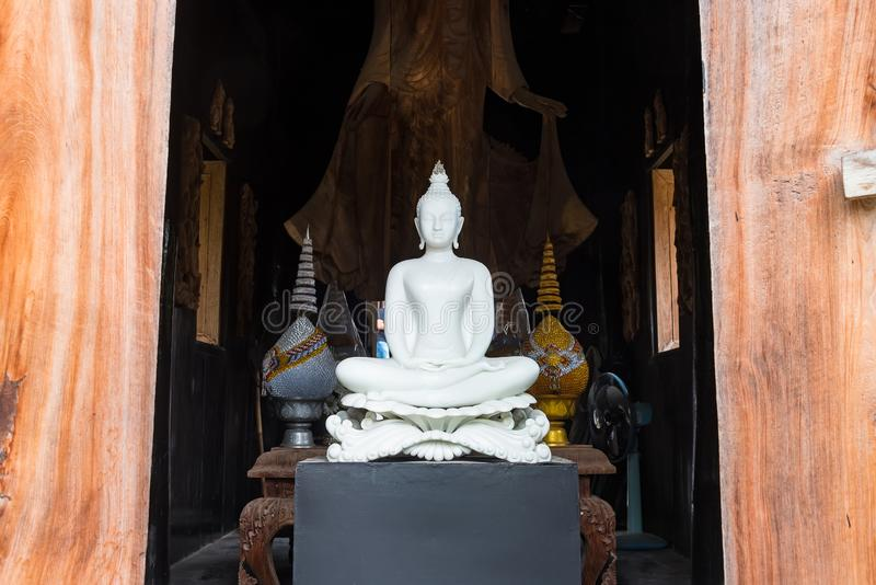 White buddha of Baandam.Thailand royalty free stock images