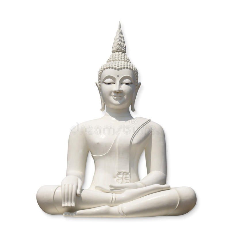 Free White Buddha (isolated) Stock Photos - 14685043