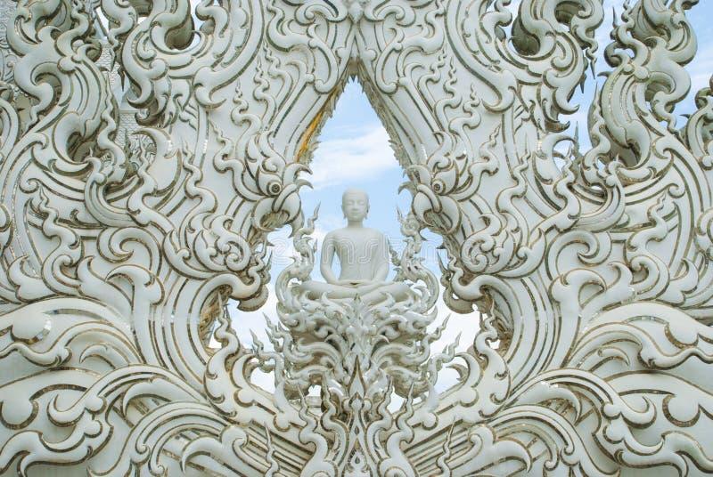 White buddha statue royalty free stock image