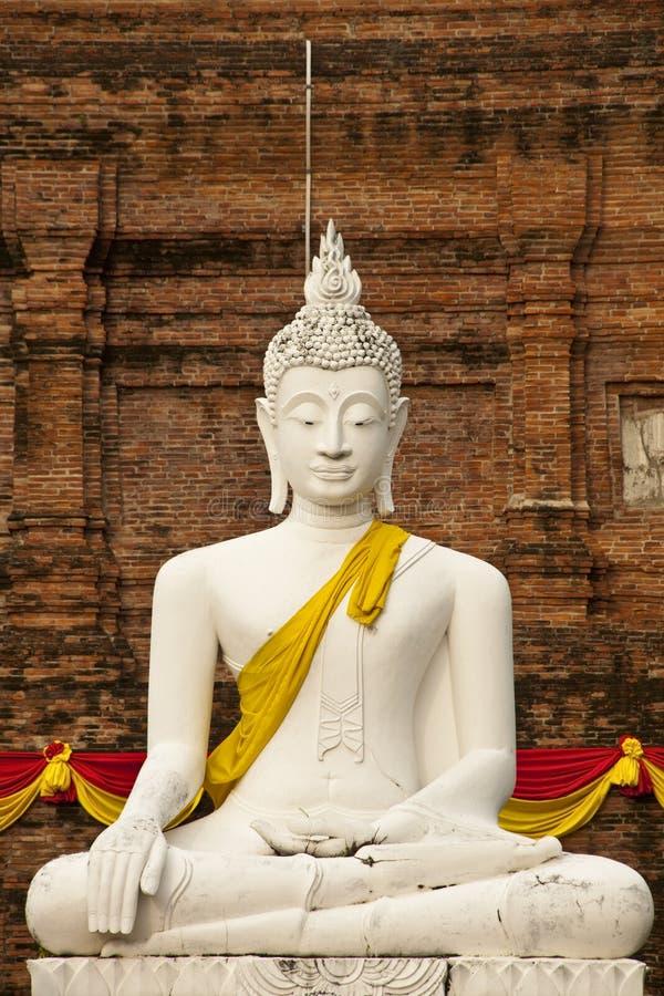Free White Buddha Statue Stock Images - 19911434
