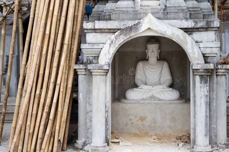 Download White Buddha Statue In Bodhgaya Stupa Or Phuthakaya Pagoda At Sa Stock Photo - Image: 83704566