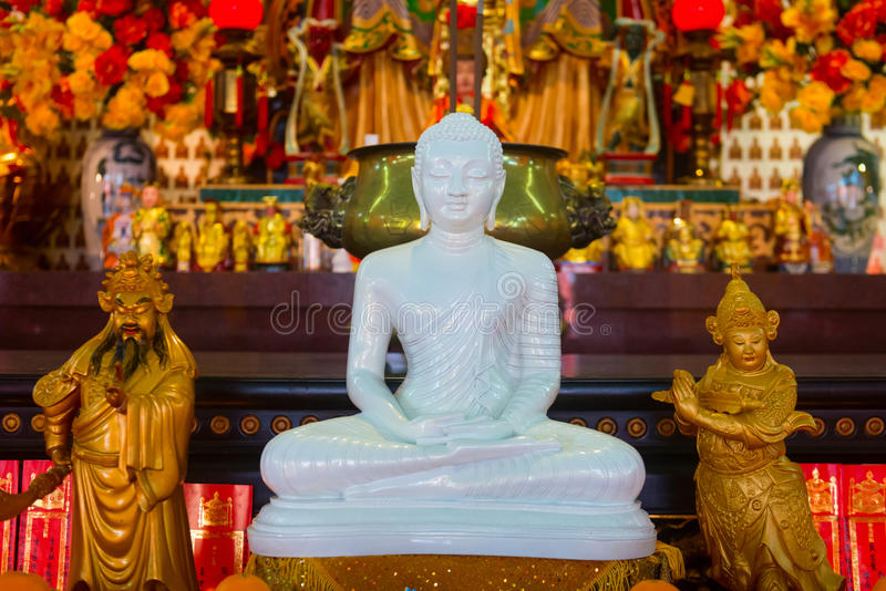 Download White Buddha Statue In Chinese Temple Editorial Image - Image: 98764290