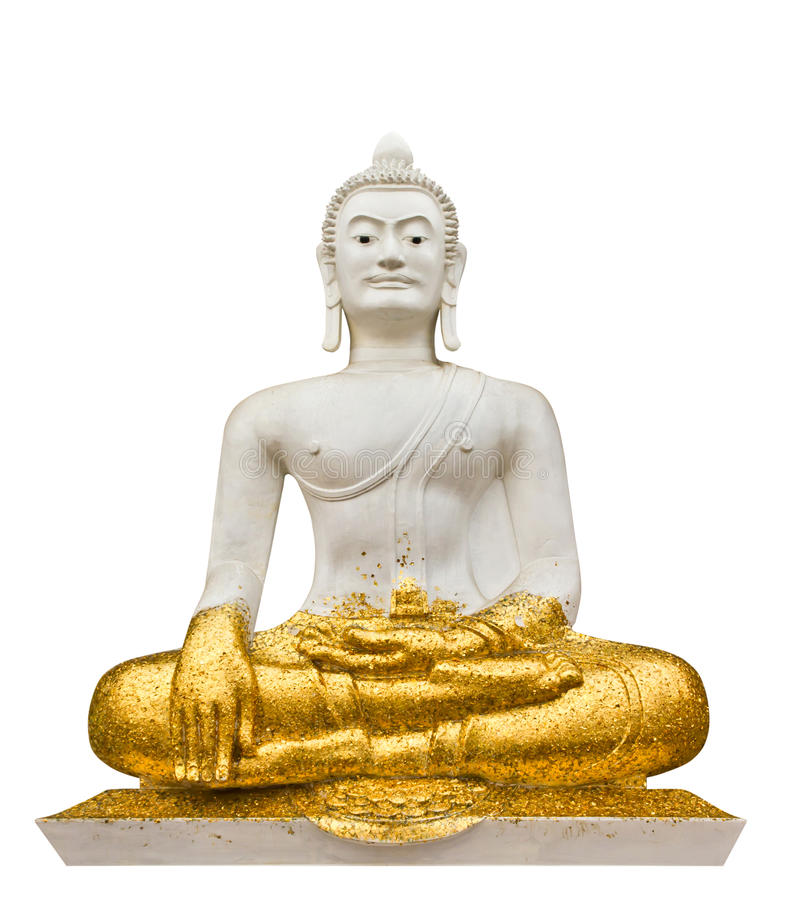 White buddha on white background stock photo