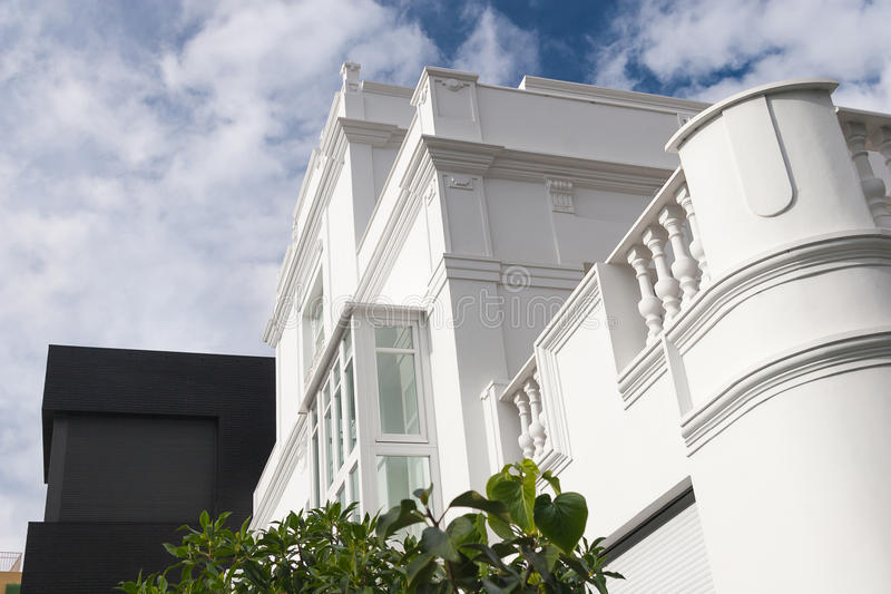 Download White building facade stock photo. Image of apartment - 43419682