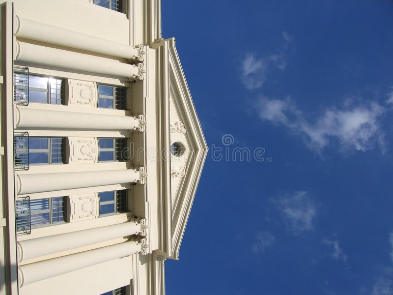 Download White Building II stock image. Image of architecture, balustrade - 19593
