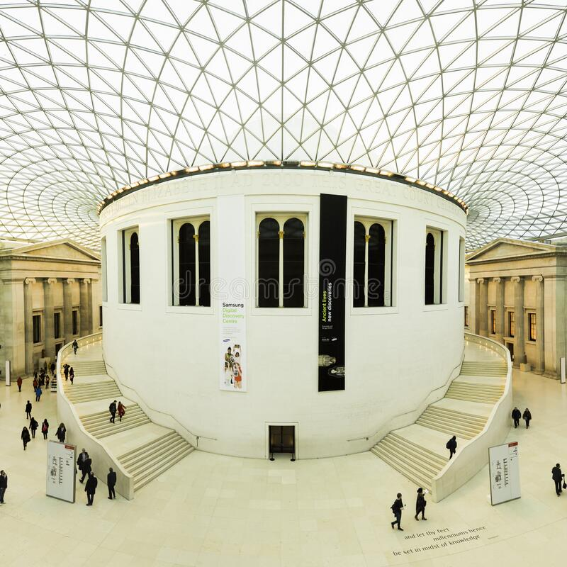 White Building Interior With People royalty free stock photo