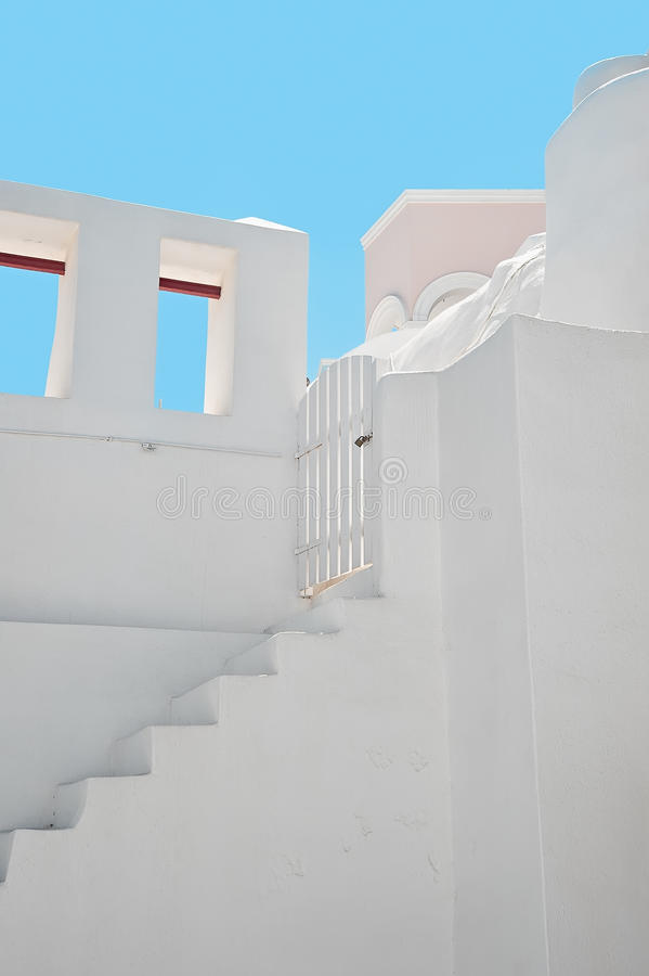 The white building at Oia, Santorini, Greece royalty free stock photography