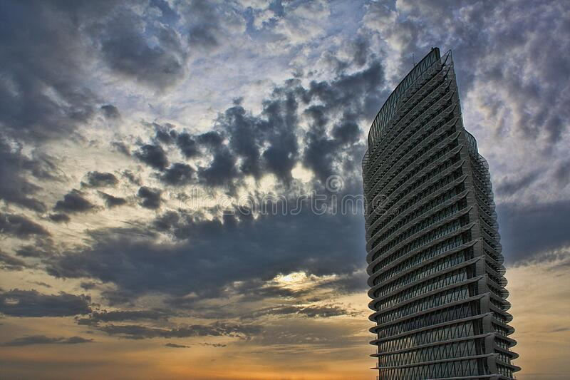 White Building Under Cloudy Sky royalty free stock image