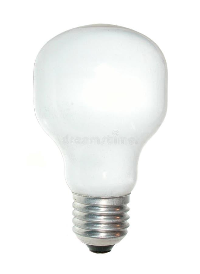 White bulb stock image
