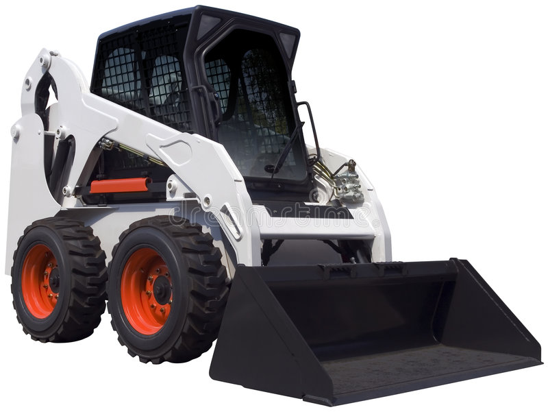 Download White bulldozer stock photo. Image of small, clean, industrial - 9120748