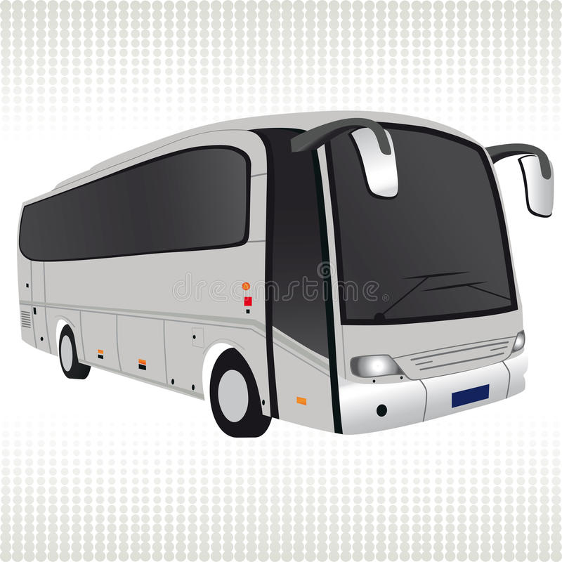 White bus. royalty free illustration