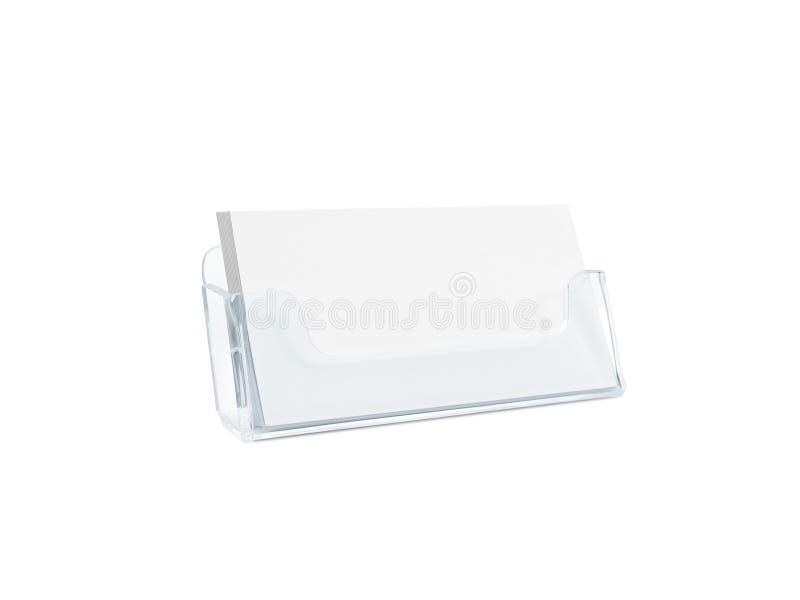 White Business Card Mockup Holder Isolated. Stock Photo - Image of ...