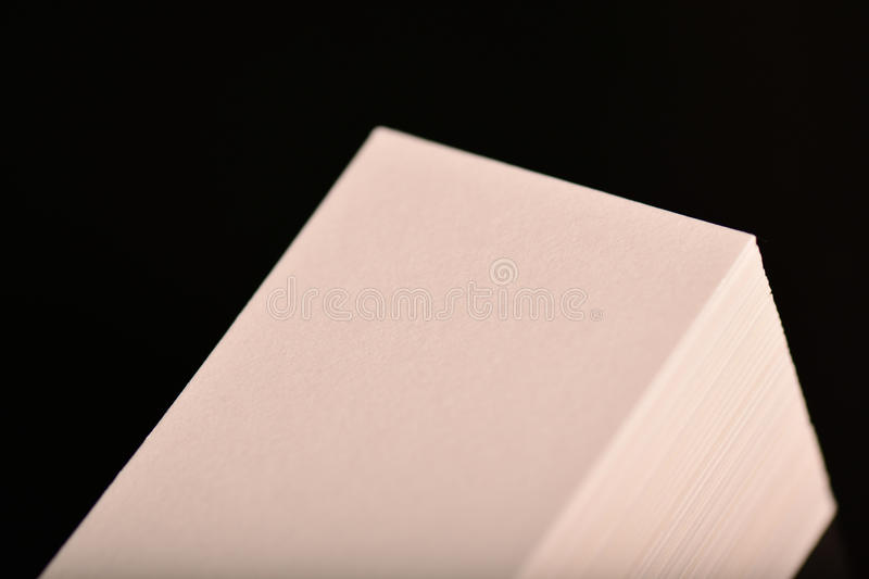 White Business Cards, flyer or banner Mockup. Blank empty template of paper cards on black background. White Business Cards, flyer or banner Mockup. Blank empty stock images
