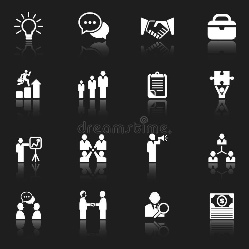 White Business Icons royalty free illustration
