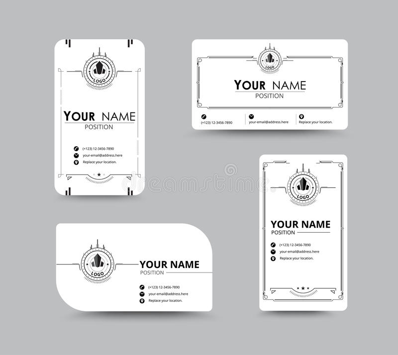 White Business Name Card. Design With Simple Concept. Vector Ill ...