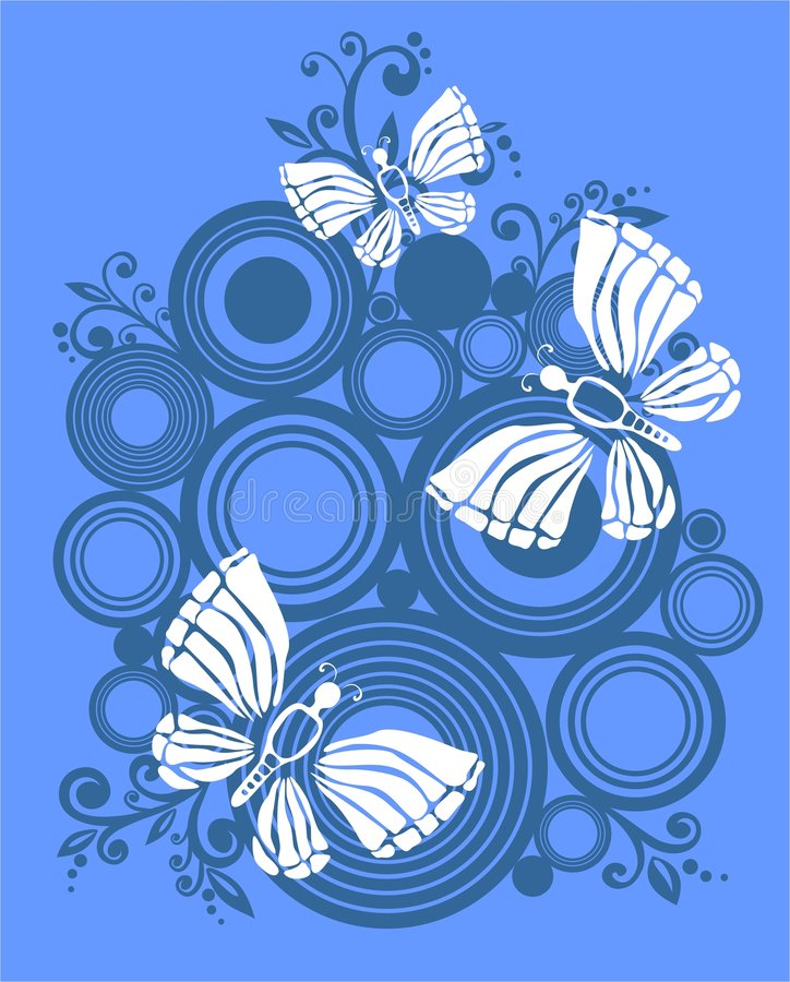 White butterflies royalty free illustration