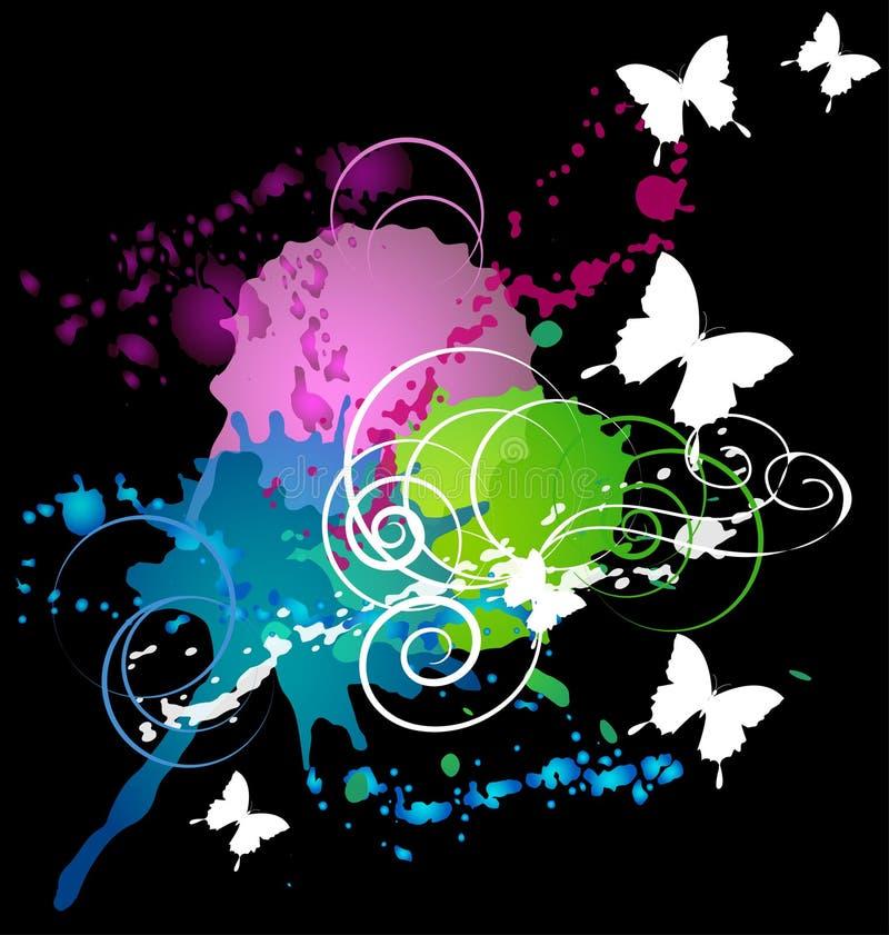 White butterflys vector illustration