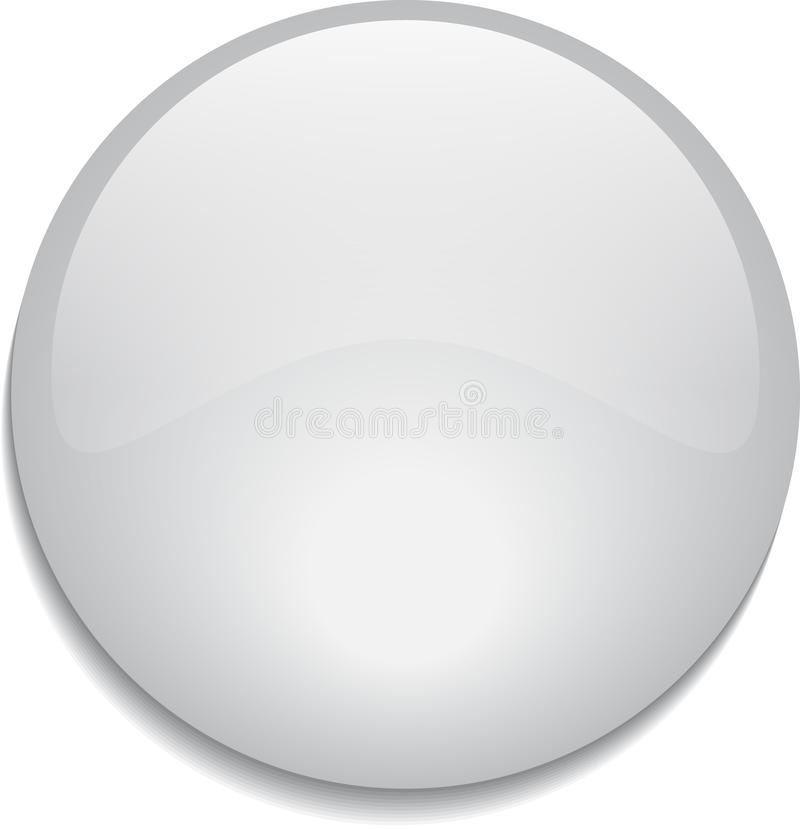 Web button glossy white vector illustration