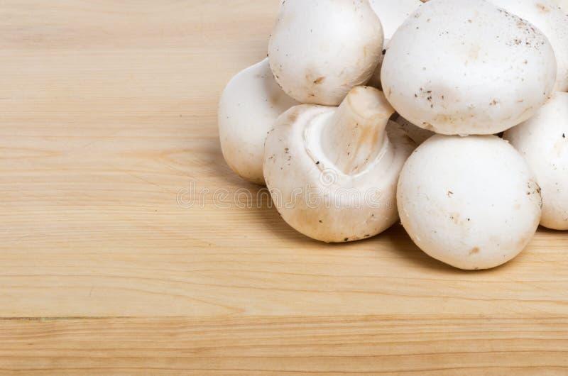 Download White Button Mushrroms On Cutting Board Stock Photo - Image: 24760270