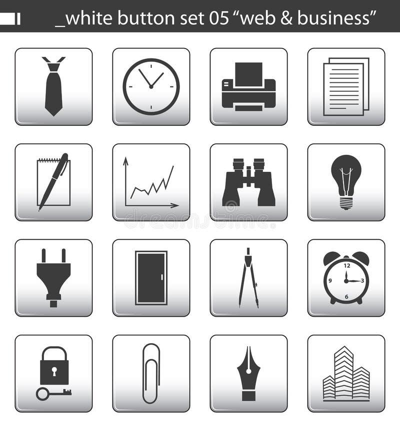 White button set 05 stock illustration