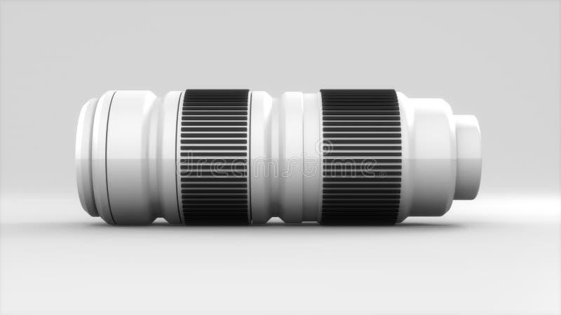 Download White Camera Lense Telephoto Stock Illustration - Image: 17554203