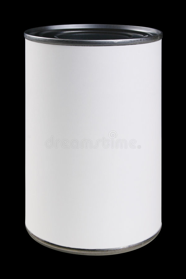 Download White Can Label With Clipping Path Stock Photo - Image: 1840958