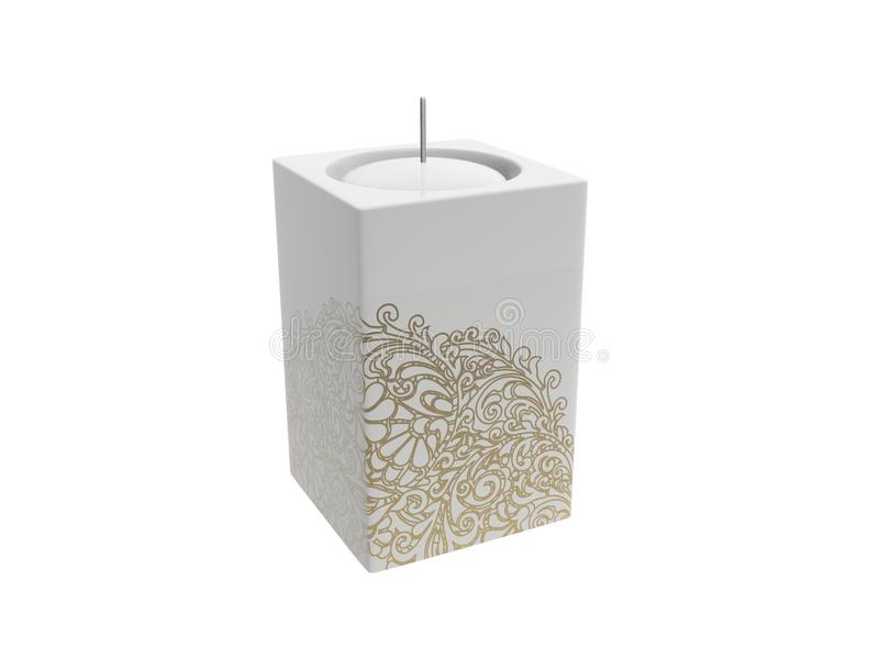 Download White candle stock illustration. Image of image, holiday - 22437448