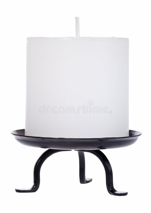 Download White candle cutout stock photo. Image of holder, cutout - 3839674