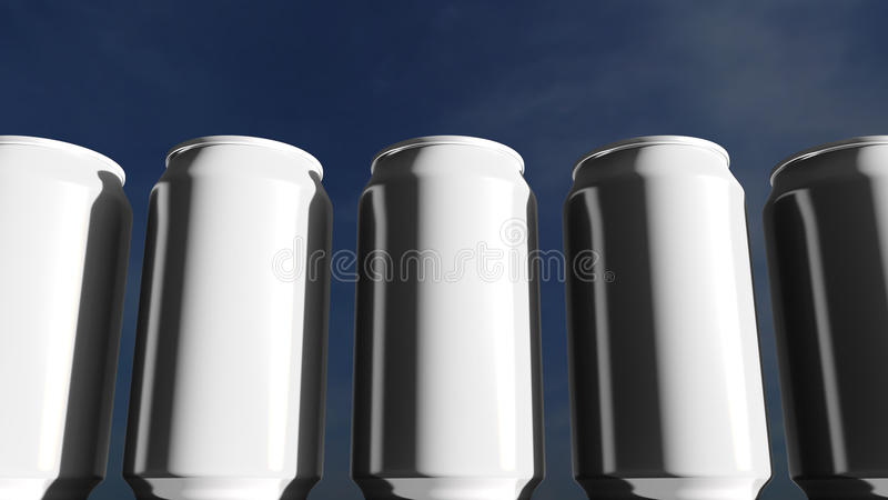 Download White Cans Against Sky At Sunset. Soft Drinks Or Beer For Party. Beach Bar. 3D Rendering Stock Image - Image of beverage, outdoor: 79179463