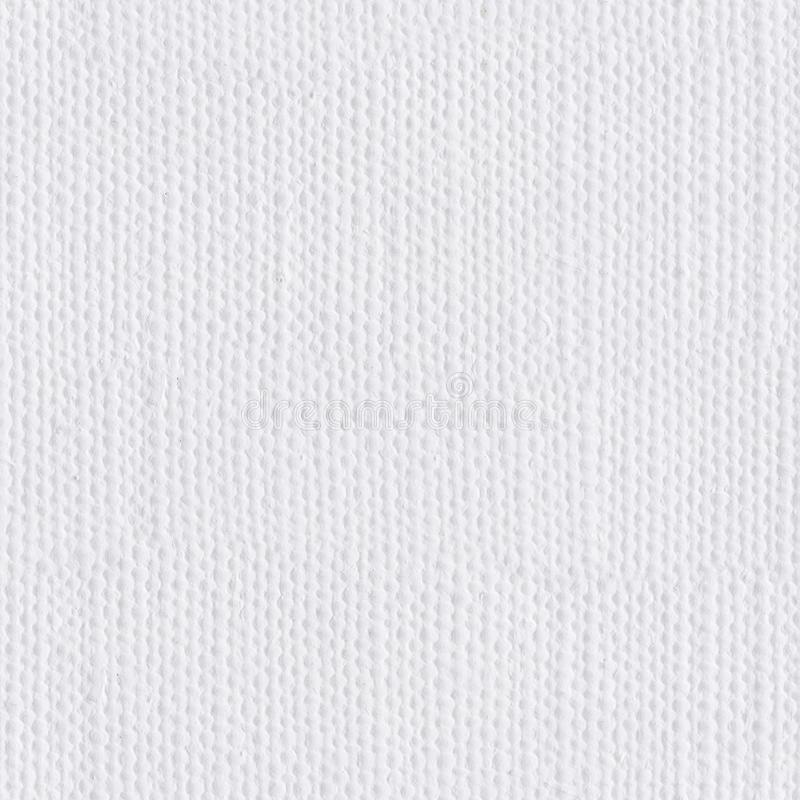 White canvas fabric as background. Seamless square texture. Tile. Ready royalty free stock photos