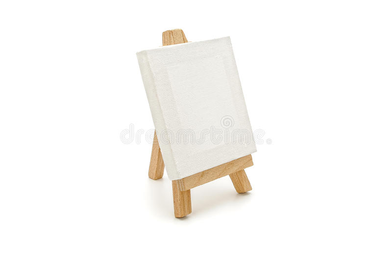 White canvas on a tablet