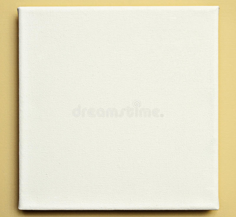 White canvas on the wall stock image