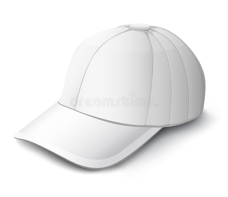 White cap isolated illustration vector illustration