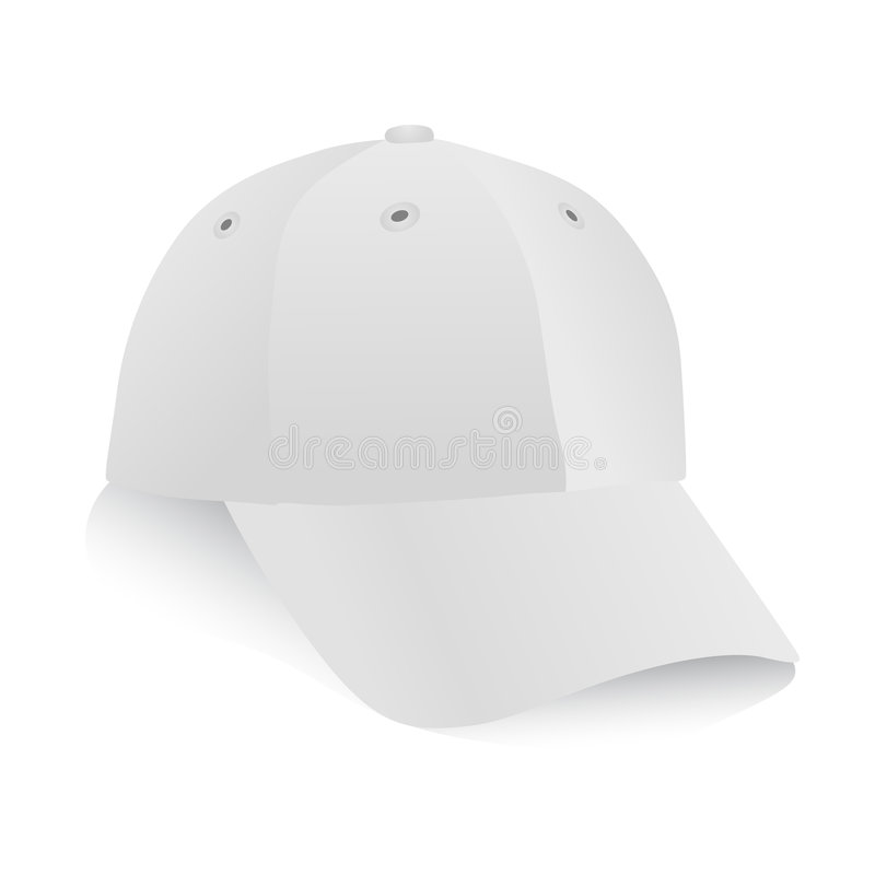 Download White cap vector stock vector. Image of clothing, modern - 8617610