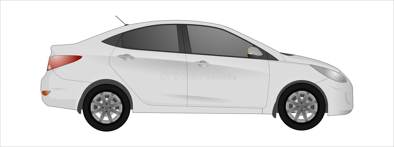 White car background vector illustration
