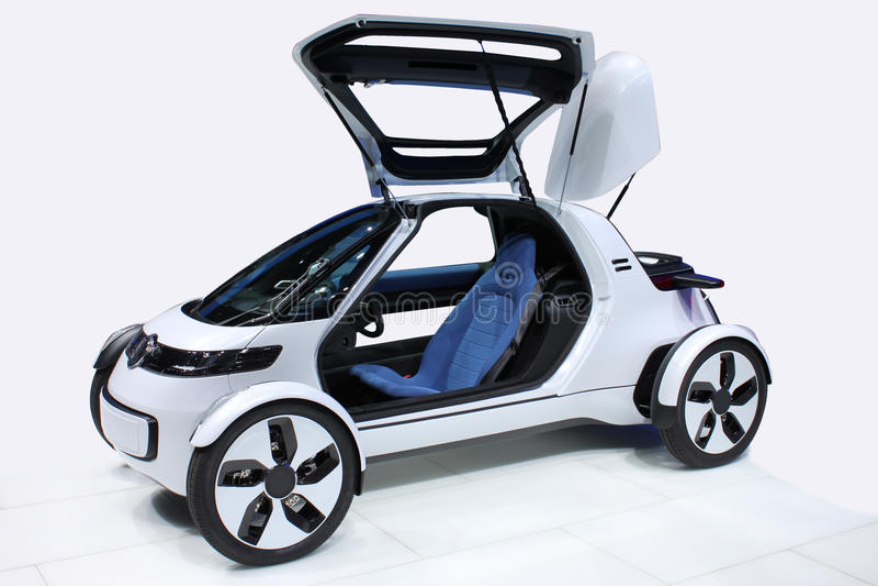 White car of the future stock photo