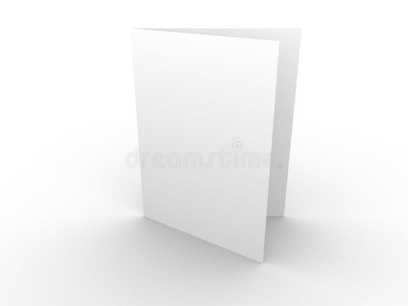 White card. White blank card; 3d render royalty free illustration