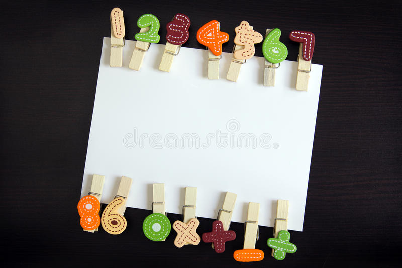 Download White card with clothespin stock photo. Image of notice - 26884772