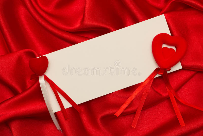 White Card For Congratulation Stock Photography