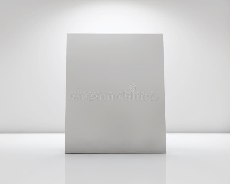 White card label vector illustration