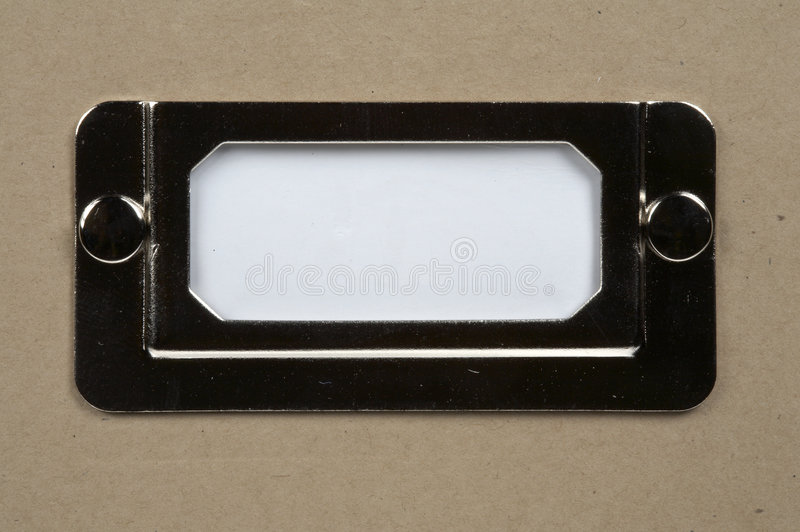 White Card Label Stock Images
