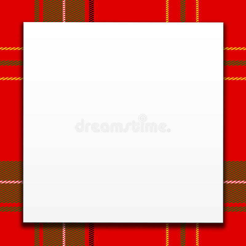 Download White Card On Red Plaid stock illustration. Image of cloth - 16113078