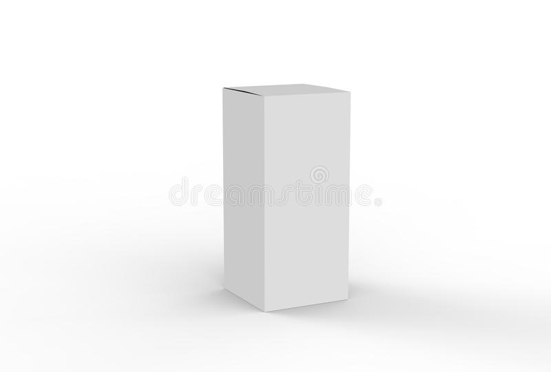 White cardboard box mock up. 3D illustrating. vector illustration
