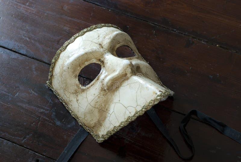 White carnival mask stock image